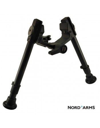 Dvojnožka NordArms Type 2 nízká, carbon, QAS