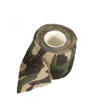 Kamuflážní páska elastická Woodland