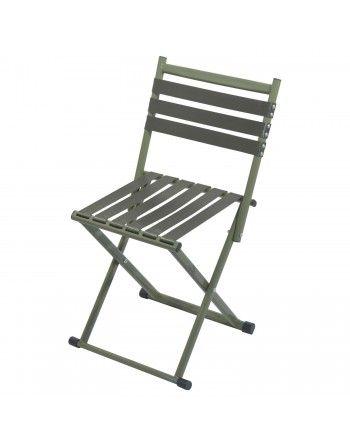 Židlička skládací s opěradlem ARMY NATURE