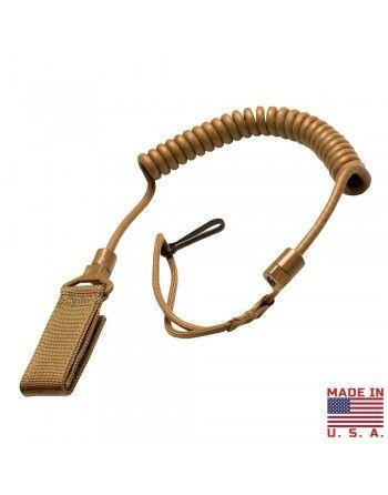 Šnůra bezpečnostní LANYARD pro pistol COYOTE BROWN