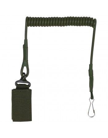 Kabel (telefonní) bezpečnostní ke zbrani ZELENÝ