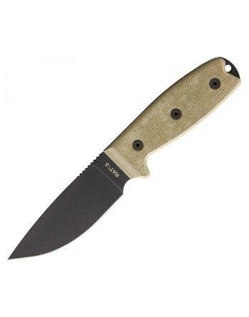 Nůž s pevnou čepelí RAT-3 s pouzdrem hladké ostří