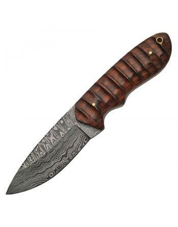 Nůž s pevnou čepelí DAMASCUS HUNTER dřevěná rukojeť
