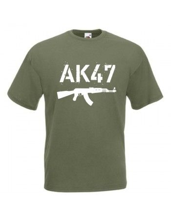 Tričko s potiskem AK-47 white