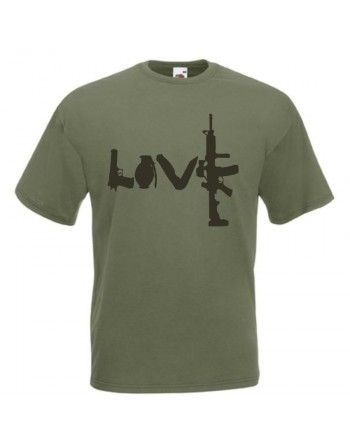 Tričko s potiskem LOVE GUN