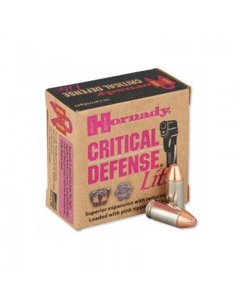 Náboje Hornady Critical Defense Lite, 9mm Luger, 100GR, FTX - Bal. 25ks