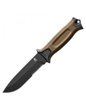 Nůž STRONGARM kombinované ostří, s pouzdrem COYOTE