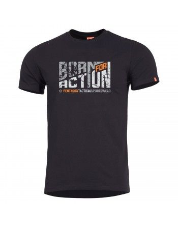 Tričko BORN FOR ACTION ČERNÉ