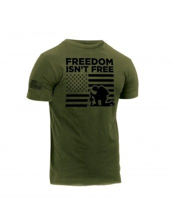Tričko FREEDOM ISN´T FREE krátký zelené