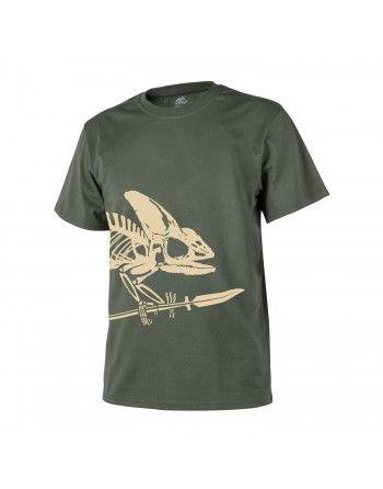 Tričko skelet chameleona ZELENÉ