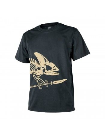 Tričko skelet chameleona ČERNÉ