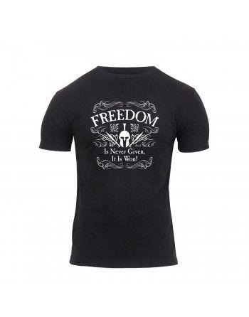 Tričko ATHLETIC FIT FREEDOM krátký rukáv ČERNÉ