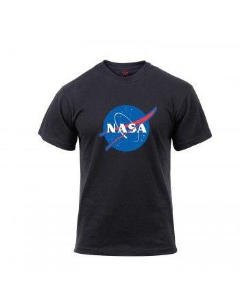 Tričko se znakem NASA ČERNÉ