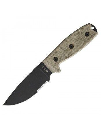 Nůž OCK s pevnou čepelí RAT-3 s pouzdrem kombinované ostří