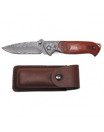 """Nůž zavírací """"Damašek"""" dřevěná střenka"""