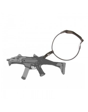 Popruh na zbraň 1-bodový elastický ČERNÝ