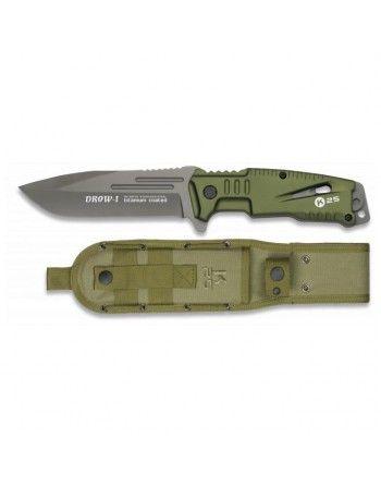 Nůž K25 DROW-I pevná čepel ZELENÝ