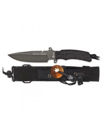 Nůž K25 31830 pevná čepel ČERNÝ