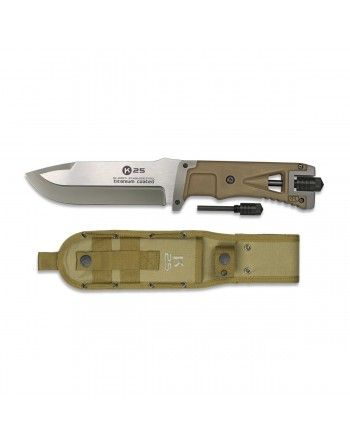 Nůž K25 32071 pevná čepel s křesadlem a pouzdrem