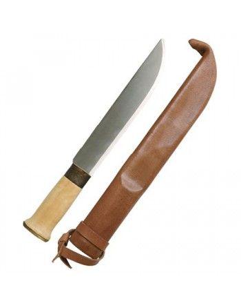 Nůž MIL-TEC FINSKÝ velký 32cm s koženým pouzdrem