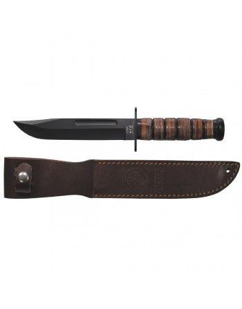 Nůž bojový USMC s koženou...