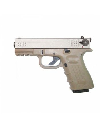 Pistole ISSC, M22, ráže 22LR HV, bicolour (desert-nikl)