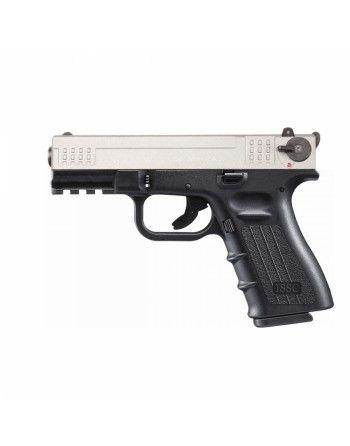 """Pistole ISSC M22 4"""" 22LR HV, pistole samonabíjecí, černá-nikl"""