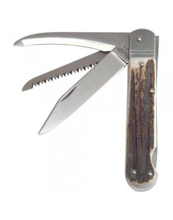 Nůž zavírací lovecký FIXIR s pojistkou střenka JELENÍ PAROH
