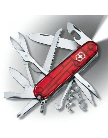 Nůž kapesní HUNTSMAN LITE 91mm ČERVENÝ transparentní
