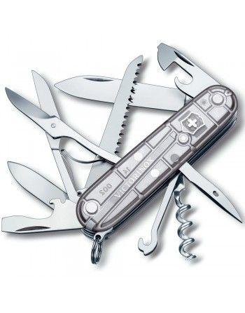 Nůž kapesní HUNTSMAN 91mm STŘÍBRNÝ transparentní