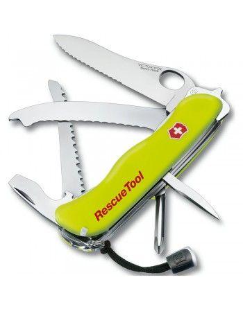 Nůž kapesní RESCUETOOL zubaté ostří 111mm ŽLUTÝ