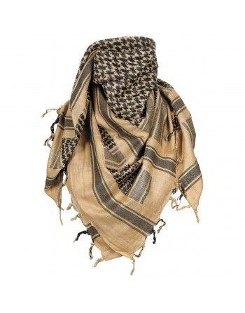 Šátek SHEMAGH KHAKI-ČERNÝ