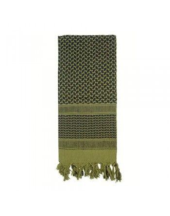 Šátek SHEMAGH 105 x 105 cm OLIV/ČERNÝ