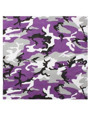 Šátek 55 x 55 cm fialové...
