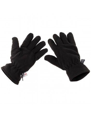 Rukavice prstové fleece Thinsulate ČERNÉ