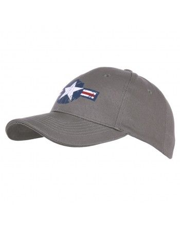 Čepice baseball USAF WWII ŠEDÁ