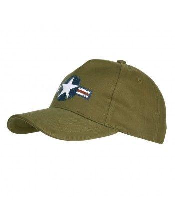 Čepice baseball USAF WWII ZELENÁ