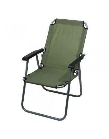 Židle kempingová skládací LYON tmavě zelená Cattara 13459