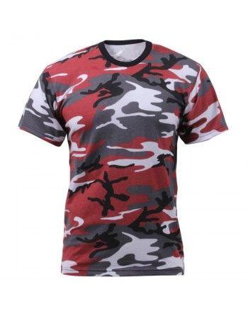 Tričko RED CAMO