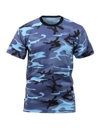 Tričko - SKY BLUE Camo