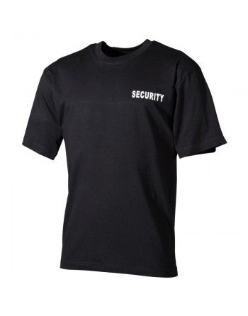 Tričko s potiskem SECURITY (bílá)