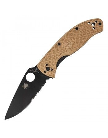 Nůž TENACIOUS kombinované ostří TAN